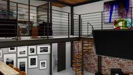 Loft Condesa: Escaleras de estilo  por Integra Arquitectos