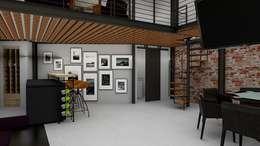 Loft Condesa: Cavas de estilo moderno por Integra Arquitectos