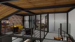 Loft Condesa: Salas de estilo moderno por Integra Arquitectos