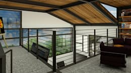 Loft Condesa: Techos de estilo  por Integra Arquitectos