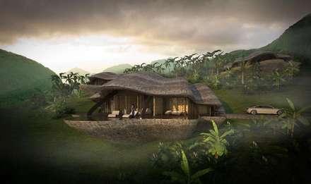The Shells // Außenansicht: tropische Häuser von designyougo - architects and designers