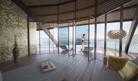 The Shells // Wohnzimmer: tropische Wohnzimmer von designyougo - architects and designers