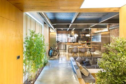 Bajo comercial convertido en loft (Terrassa): Salones de estilo rústico de Egue y Seta