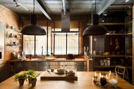 Bajo comercial convertido en loft (Terrassa): Cocinas de estilo rústico de Egue y Seta