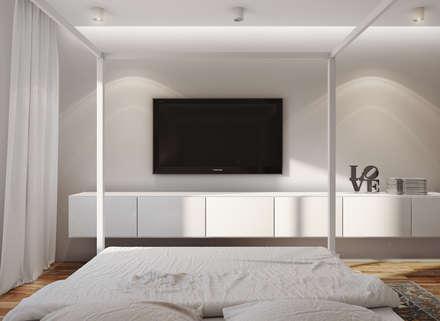 studio apartment: Спальни в . Автор – Angelina Alekseeva