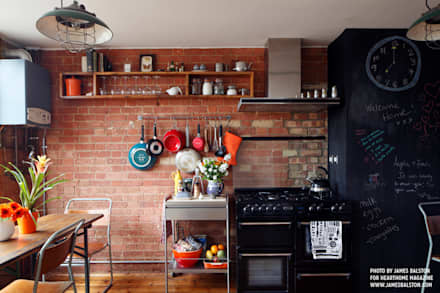 industrial Kitchen by Cassidy Hughes Interior Design