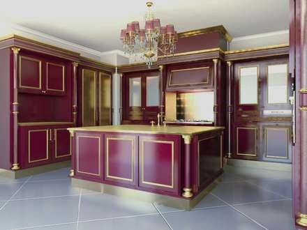linea red: Cucina in stile in stile Classico di elisalage