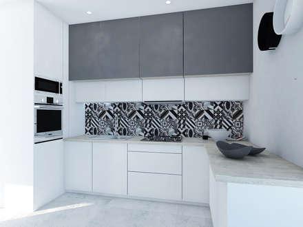 Kuchnia w stylu patchwork: styl , w kategorii Kuchnia zaprojektowany przez FOORMA Pracownia Architektury Wnętrz