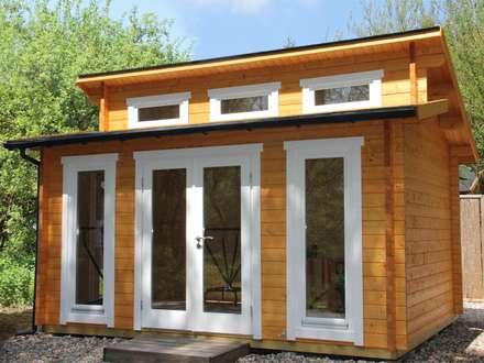 Stufendach Gartenhaus Langeoog von Wolff Finnhaus: moderner Garten von Gartenhaus2000 GmbH