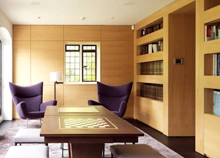 Totteridge: colonial Living room by Gregory Phillips Architects