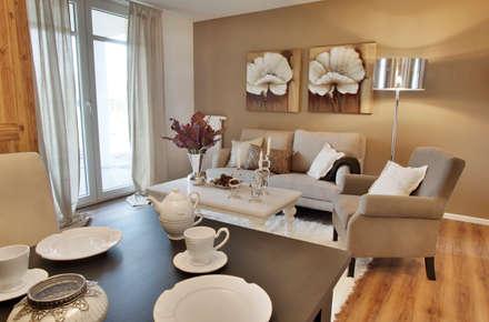 Musterwohnung: Mediterrane Wohnzimmer Von ADANK Bauträgergesellschaft GmbH