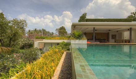 Pool side garden: asian Pool by Alissa Ugolini - homify UK