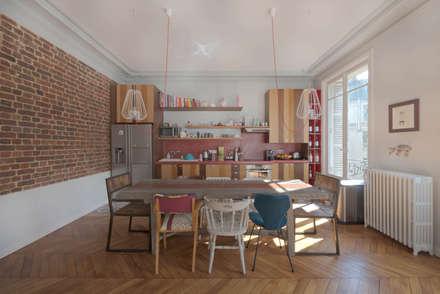 Projet Paris 16: Salle à manger de style de style Moderne par tatiana nicol eurl