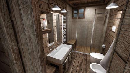 Baños de estilo rústico por studiosagitair