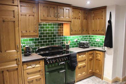 9 piece solid oak: country Kitchen by Hallmark Kitchen Designs