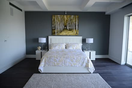Nightingale Decor, Hollywood Hills: Recámaras de estilo moderno por Erika Winters® Design