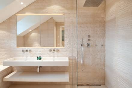 Canton De Vaud, Switzerland: rustic Bathroom by Ardesia Design