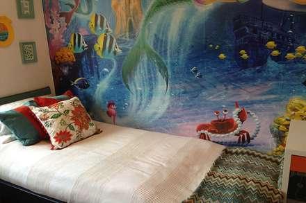 Girl's bedroom makeover: eclectic Bedroom by Karolina Barnes Studio