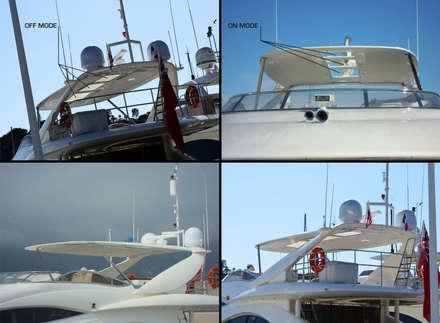 Yate privado en Saint Tropez (Francia): Yates y jets de estilo mediterráneo de Vidrios de privacidad