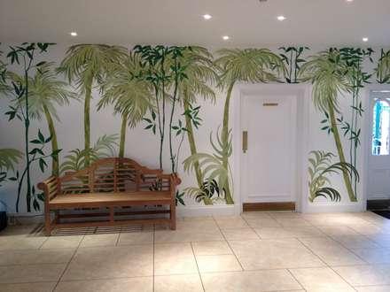 Birmingham Botanical Gardens - Feature Entrance Mural:  Corridor & hallway by Joanna Perry Murals