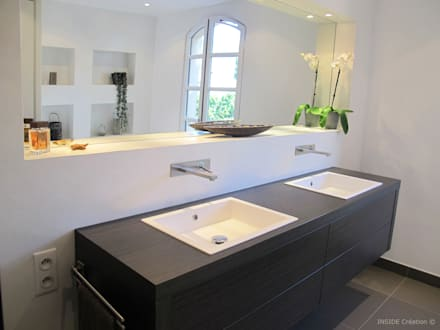 Salle de bain béton ciré: Salle de bain de style de style Moderne par INSIDE Création