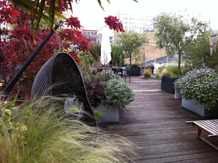 industrial Garden by Cool Gardens Landscaping