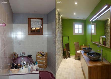 UNE SALLE DE BAIN TRÈS NATURE: Salle de bain de style de style Moderne par UN AMOUR DE MAISON