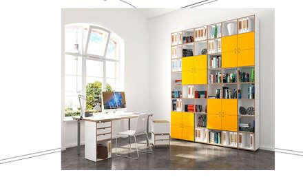 Büroregal Arbeitszimmer: Moderne Arbeitszimmer Von Stocubo   Das Modulare  Regalsystem
