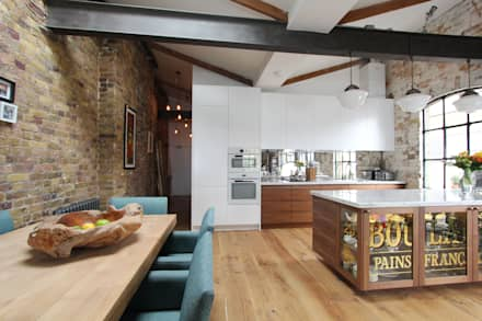 Shoreditch EC1: Warehouse Living: industrial Kitchen by Increation