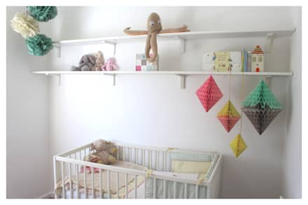 Room overview: eclectic Nursery/kid's room by Crow's Nest Interiors