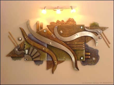 WALL RELIEF ON A.A.C BRICKS:  Walls by Drashtikon designer consultant (kamal maniya)