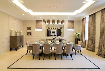 Fairways At The Bishops Avenue: Modern Dining Room By Celia Sawyer Luxury  Interiors