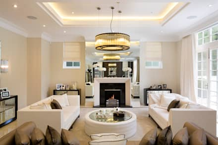 Fairways at the Bishops Avenue: modern Living room by Celia Sawyer Luxury Interiors