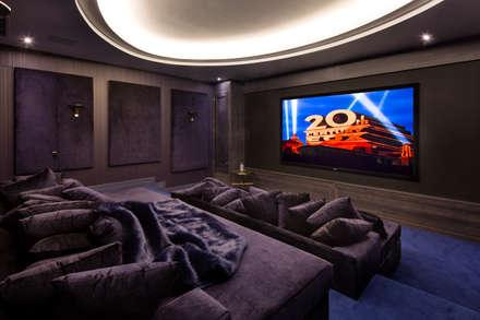 Fairways at the Bishops Avenue: modern Media room by Celia Sawyer Luxury Interiors