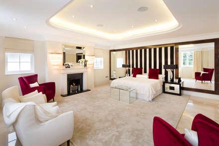 Fairways at the Bishops Avenue: modern Bedroom by Celia Sawyer Luxury Interiors