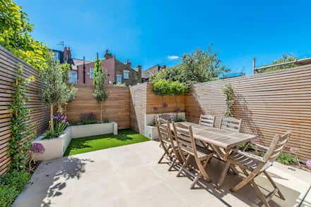 Rear Garden:  Terrace by CATO creative