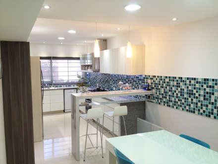 Remodelación Cocina y Comedor de Diario: Cocinas de estilo moderno por Estudio Nicolas Pierry