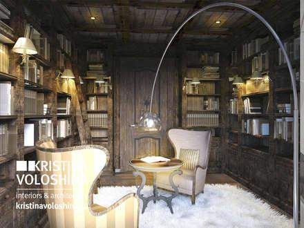 Библиотека в рустикальном стиле: Tерраса в . Автор – kristinavoloshina