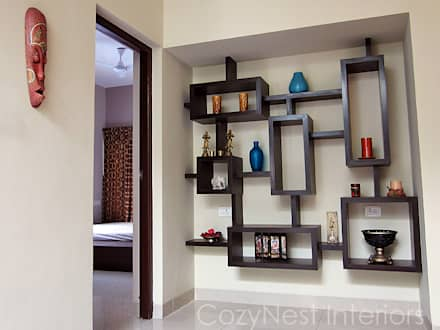 Subramanian Residence: modern Living room by Cozy Nest Interiors