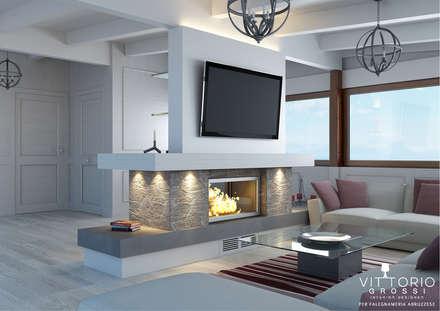 Attico total white lato TV: Terrazza in stile  di Falegnameria Abruzzese