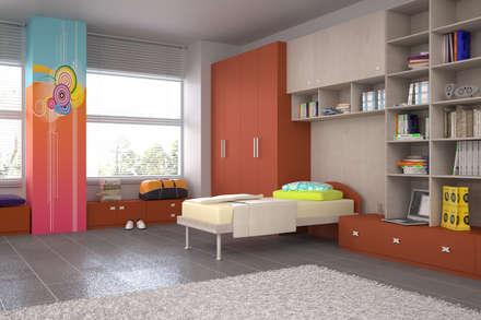 Rendering interni: Stanza dei bambini in stile in stile Moderno di Renderburo