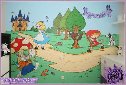 murales en infantiles dormitorios infantiles de estilo moderno de campunet