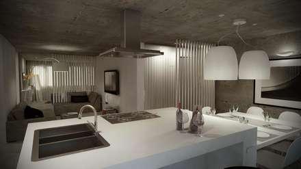 Open Space: Cozinhas industriais por Santiago | Interior Design Studio