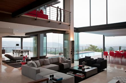House Lam : modern Living room by Nico Van Der Meulen Architects