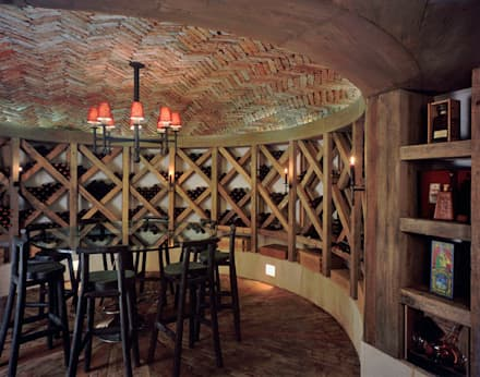eclectic Wine cellar by JR Arquitectos
