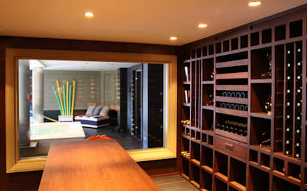 modern Wine cellar by Degré 12