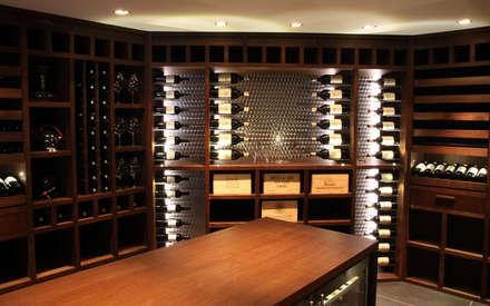 modern Wine cellar by Degré 12