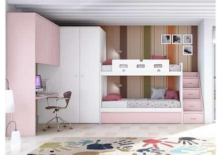 litera adaptada dormitorios infantiles de estilo moderno de toca fusta - Habitaciones Nias
