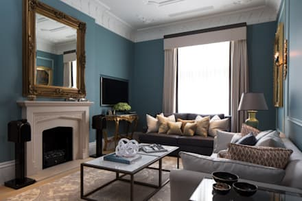 Drawing Room: classic Living room by Roselind Wilson Design