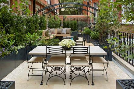 Knightsbridge Roof Terrace - Aralia Garden Design:  Commercial Spaces by Aralia